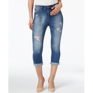Buffalo David Bitton Cropped Distressed Jeans NWT